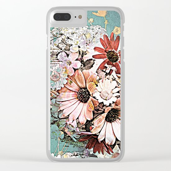 Pastel Bohemian Floral Clear iPhone Case