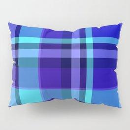 Blue Plaid Pattern Pillow Sham