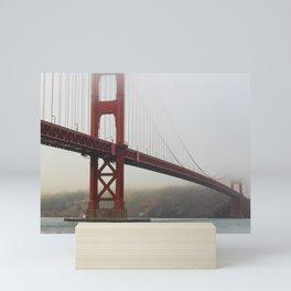Golden Gate Fog Mini Art Print