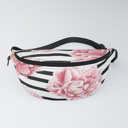 Simply Drawn Stripes and Roses Fanny Pack