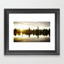 Idaho Falls Temple - Sunrise Framed Art Print