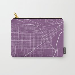 Billings Map, USA - Purple Carry-All Pouch