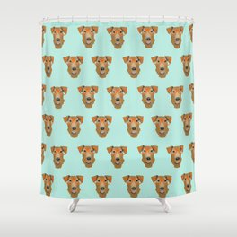 Airedale Glasses airedale dog print airedale pillow dog pattern Shower Curtain