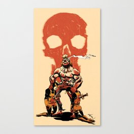 Brock versus No. 21 and 24 (Venture Bros.) Canvas Print