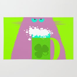 Saint Patrick's Day Lilac Cat Rug
