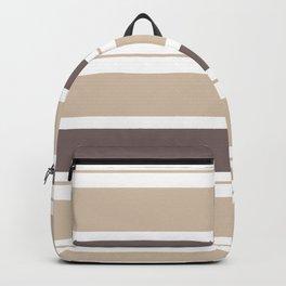 Caffeinated Tones Horizontal Striped Backpack