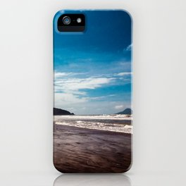 Bronze sand at Ohope Beach iPhone Case