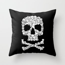 Pawsitively Bitchin' Throw Pillow