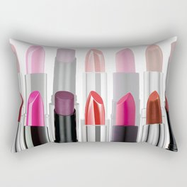 Lipstick Tubes Makeup Make Up Cosmetics Rectangular Pillow