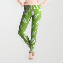 Tree of life - pea green Leggings