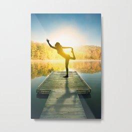 Yoga on the Lake Metal Print