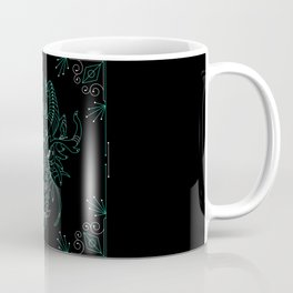 The Challenger - Mystic Dragon in Gold Coffee Mug