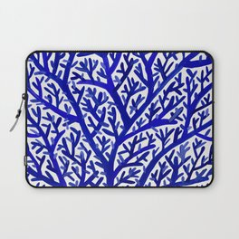 Fan Coral – Navy Laptop Sleeve