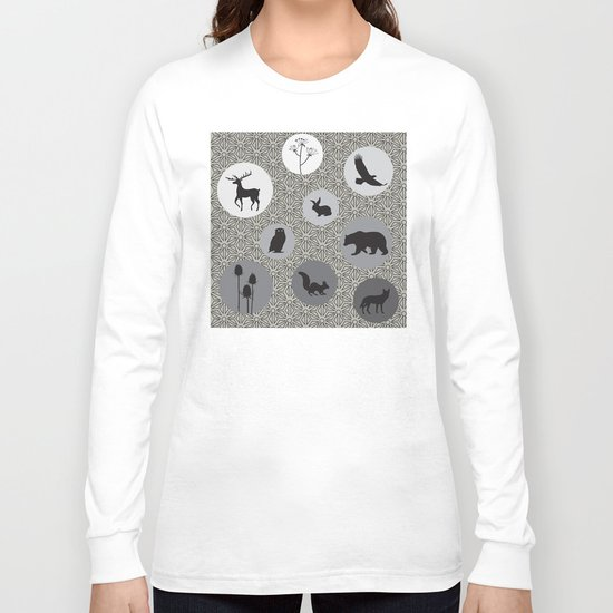 Animals Of The Woods Long Sleeve T-shirt