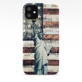 Vintage Patriotic American Liberty iPhone Case