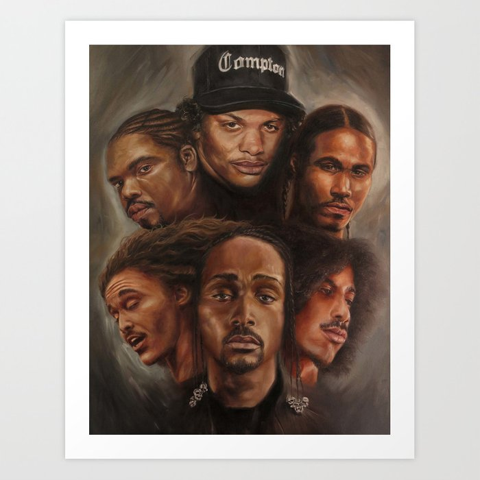 a405632caf7 Bone Thugs-N-Harmony Oil Painting Art Print by theartofhim