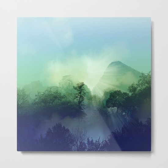tropical green forest Metal Print