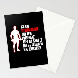 Fitness Trainer Trainer Funny Saying Gift Stationery Cards
