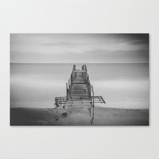 Tranquil Blues - BW Canvas Print