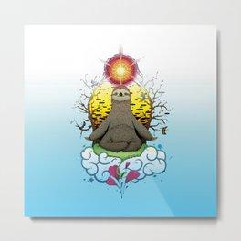 Sloth Meditation Metal Print