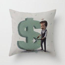 Green Fingers Throw Pillow