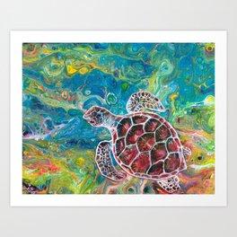 Sea Turtle Dream Art Print