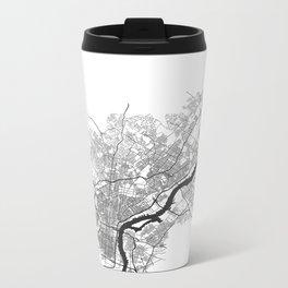 PHILADELPHIA MAP PRINT Metal Travel Mug