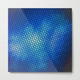 Blue LED Abstract Art Design Metal Print