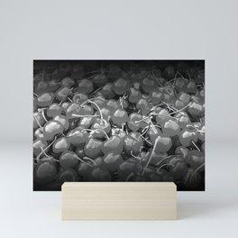cherries pattern reaclibw Mini Art Print