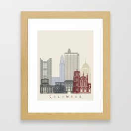 Columbus skyline poster  Framed Art Print