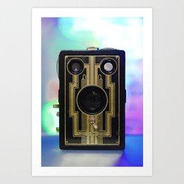 Vintage Art Deco Camera Art Print