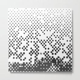 Black and white halftone Metal Print