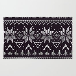 Knitted Christmas pattern in retro style 5 Rug