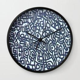 SIGNOS EN BLANCO Y NEGRO Wall Clock
