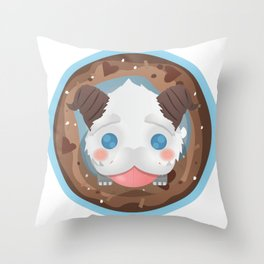 Poro with Mustache on a Poro-Snax Throw Pillow