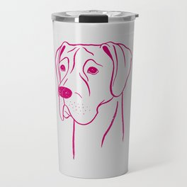 Great Dane (Light Gray and Berry) Travel Mug