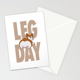 Leg Day Doggie Stationery Cards