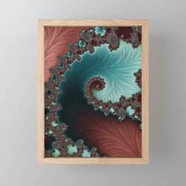 Velvet Crush - Teal/Copper Framed Mini Art Print