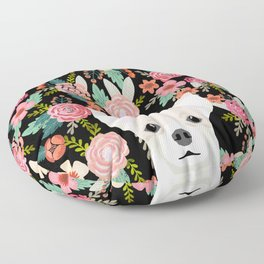 Chihuahua face floral dog breed cute pet gifts pure breed dog lovers chihuahuas Floor Pillow