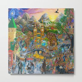 Magical Mystery Tour Color Edit Metal Print