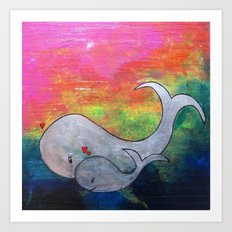 I Whale Always Be By Your Side Art Print