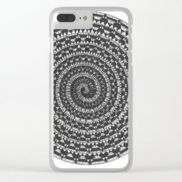 spiral 5 Clear iPhone Case