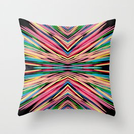 Toothpick Fusion Abstract Pattern Landscape Throw Pillow