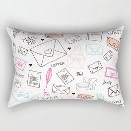 Love letter illustration pattern design Rectangular Pillow