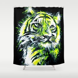Neon tiger Shower Curtain