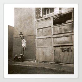 Montreal Street with Holga Art Print