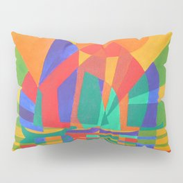 Dreamboat - Cubist Junk In Primary Colors Pillow Sham