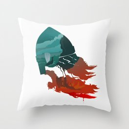 Viking god Throw Pillow