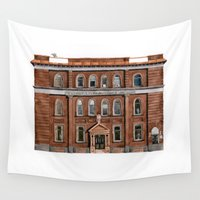 building Wall Tapestries featuring Wright Building by Yuliya
