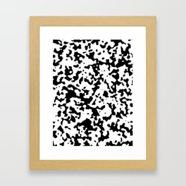 Spots - White and Black Framed Art Print